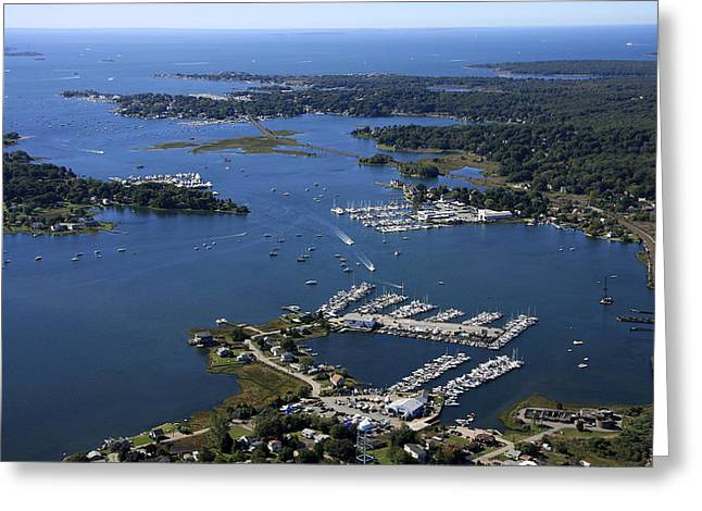 Mystic River, Mystic Greeting Card by Dave Cleaveland