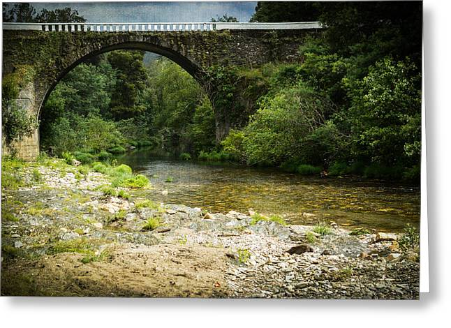 Mystical Landscape Greeting Cards - Mystic River S2 I - The Devils Bridge Greeting Card by Marco Oliveira