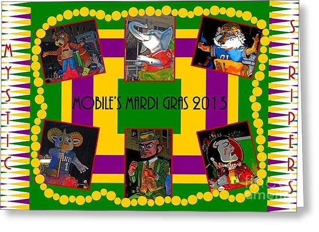 Mystic Stripers Parade Images 2013  Greeting Card by Marian Bell