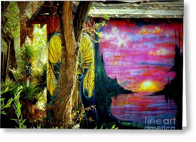 Outbuildings Greeting Cards - Mystic Sunset Greeting Card by Vicki Buckler