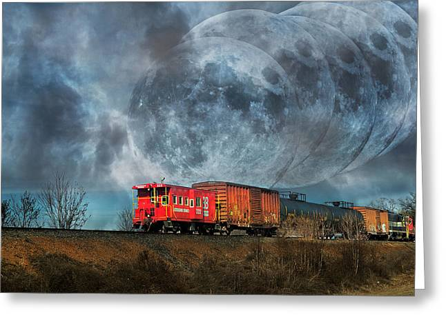 Mystic Tracking Greeting Card by Betsy Knapp