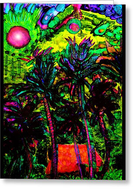 Maui Mixed Media Greeting Cards - Mystic View of Iao Valley Greeting Card by Susanne Still