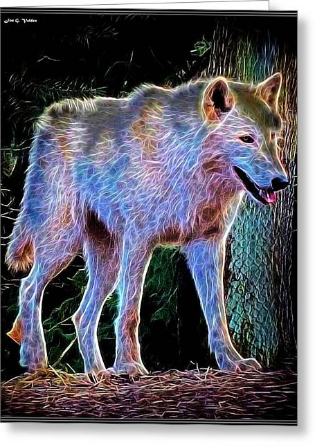 Growling Greeting Cards - Mystic Wolf Greeting Card by Jon Volden