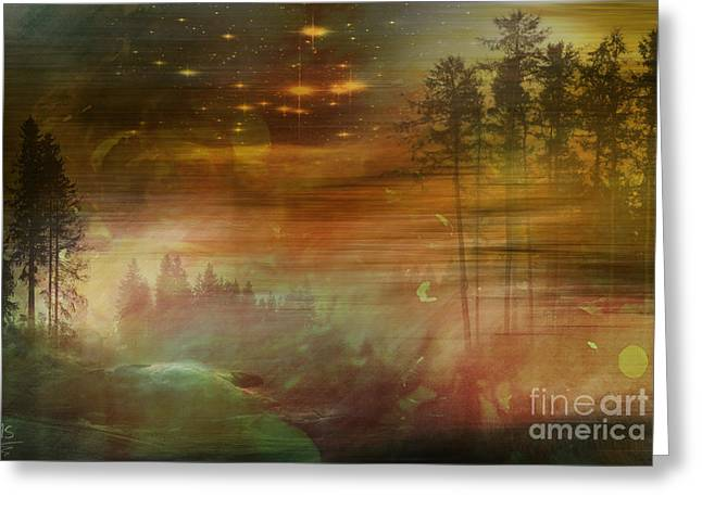 Himmel Digital Art Greeting Cards - Mystic Wood  Greeting Card by Martin Slotta