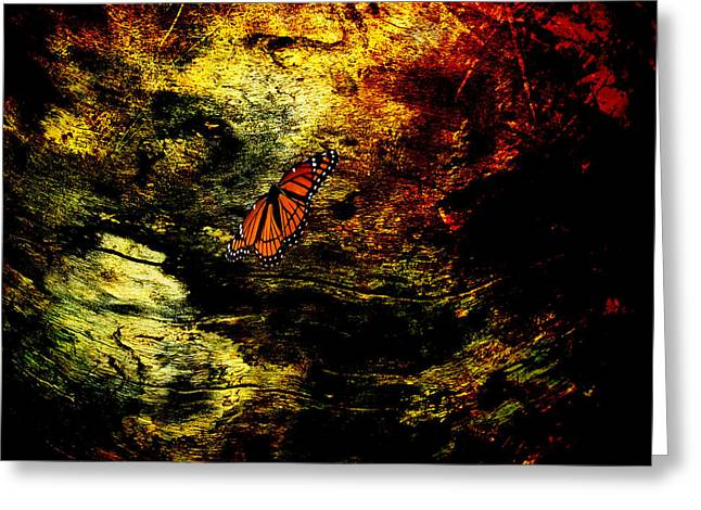 Butterfly Digital Art Greeting Cards - Mystical Butterfly Greeting Card by J Larry Walker