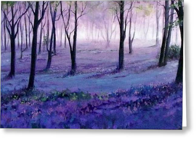 Mystical Landscape Greeting Cards - Mystical Forest Greeting Card by Lily Adamczyk