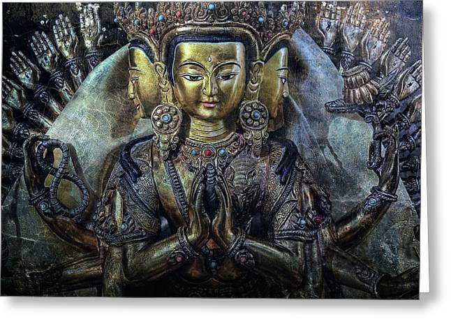 Statue Portrait Greeting Cards - Mystical India Greeting Card by Joachim G Pinkawa