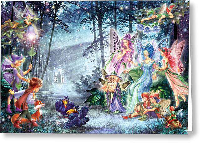 Magical Greeting Cards - Mystical Meeting  Greeting Card by Zorina Baldescu