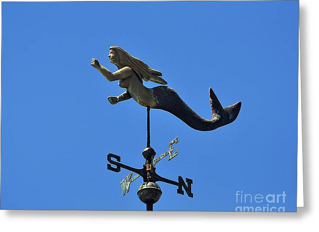 Wind Vane Greeting Cards - Mystical Mermaid Greeting Card by Al Powell Photography USA