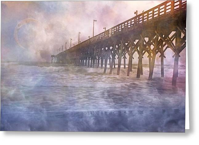 Foggy Ocean Greeting Cards - Mystical Morning Greeting Card by Betsy C  Knapp