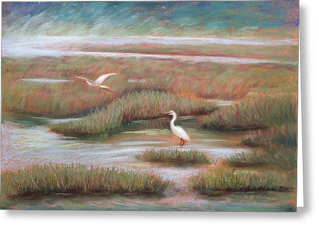 Moss Pastels Greeting Cards - Mystical Morning Greeting Card by Karin  Leonard