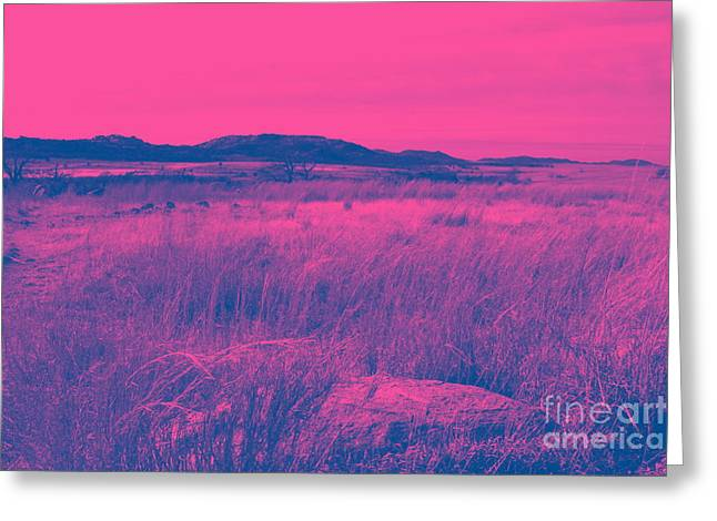 Mystical Red Greeting Card by Mickey Harkins