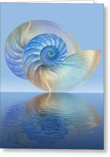 Surreal Geometric Greeting Cards - Mystical reflections Greeting Card by Gill Billington