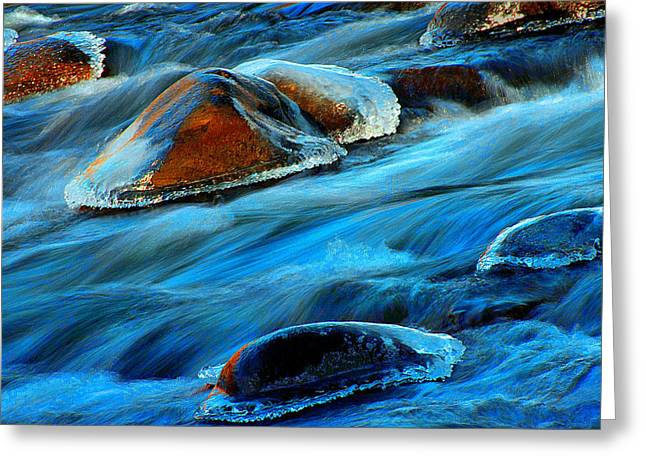 Philosophical Movement Greeting Cards - Mystical River Greeting Card by Mike Flynn