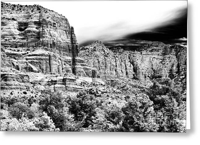 Mystical Landscape Greeting Cards - Mystical Rocks Greeting Card by John Rizzuto