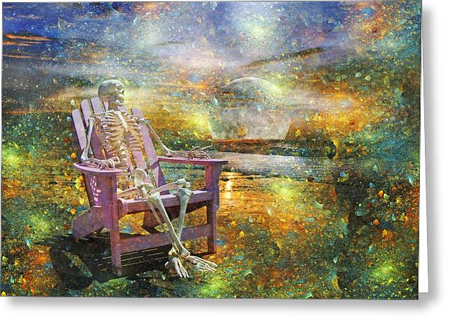 Scale Digital Greeting Cards - Mystical Sam on Topsail Greeting Card by Betsy C  Knapp