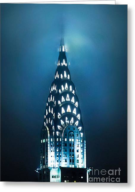 New York Night Greeting Cards - Mystical Spires Greeting Card by Az Jackson