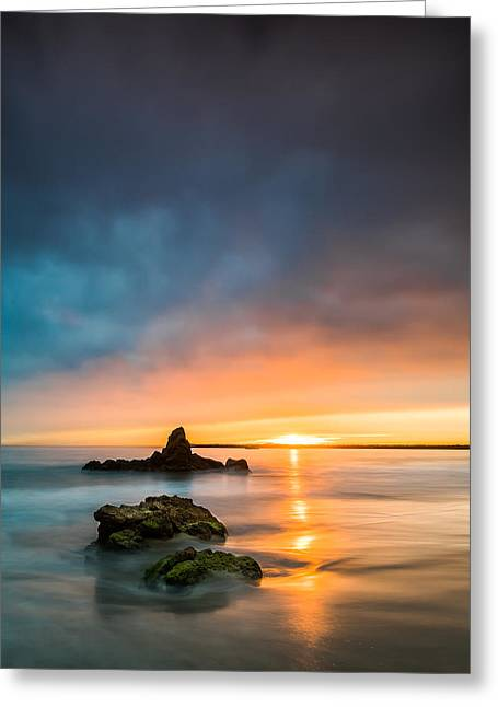 California Ocean Photography Greeting Cards - Mystical Sunset Greeting Card by Larry Marshall