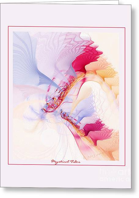 Graphic Digital Art Pastels Greeting Cards - Mystical Tides Greeting Card by Gayle Odsather