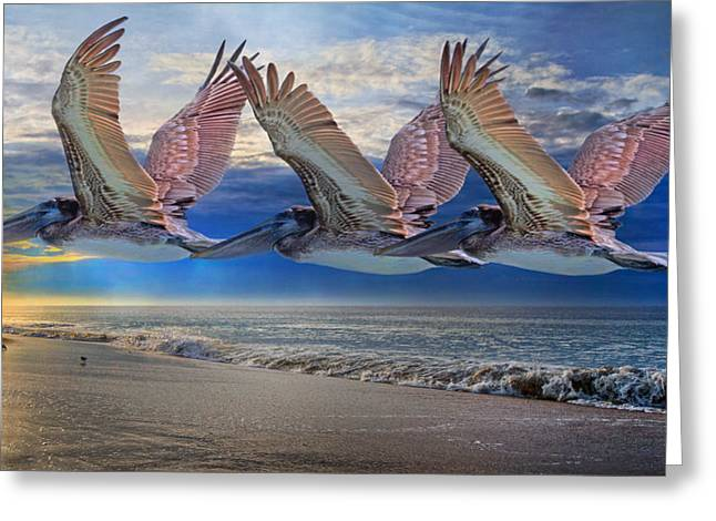 Trio Greeting Cards - Mystical Trio Greeting Card by Betsy C  Knapp
