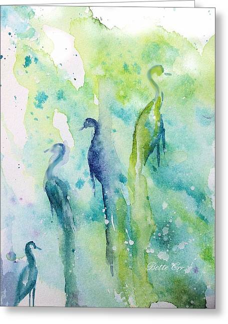 Md Paintings Greeting Cards - Mystical Vigilance Greeting Card by Bette Orr
