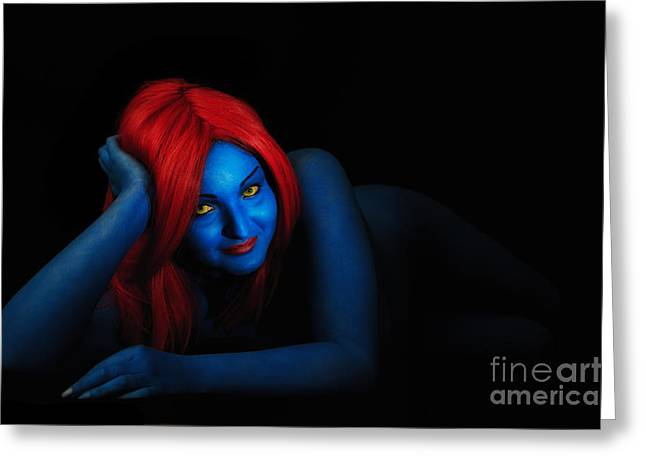 Covering Up Greeting Cards - Mystique Greeting Card by Traven Milovich