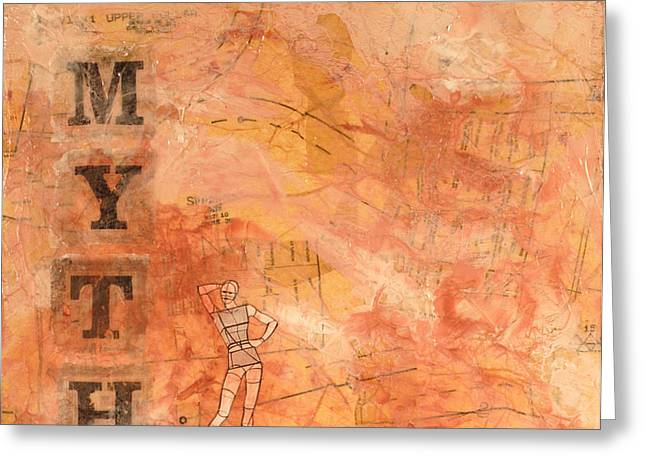 Myth Of Perfection Greeting Card by Carlynne Hershberger