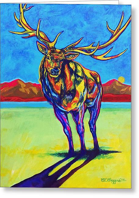 Mythical Elk Greeting Card by Derrick Higgins