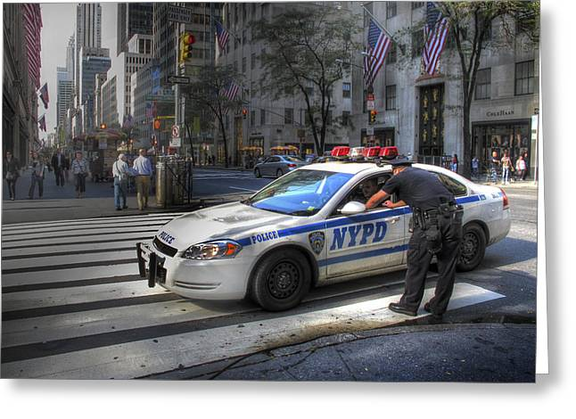 New York City Police Greeting Cards - N Y P D Greeting Card by Douglas J Fisher