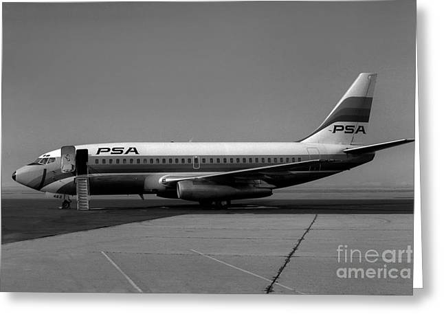 Fixed Wing Multi Engine Greeting Cards - N462GB Boeing 737 at Long Beach California Greeting Card by Wernher Krutein