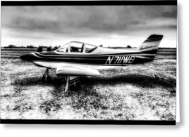 Single-engine Photographs Greeting Cards - N7llWB Barton Sylkie - 1 Plane Greeting Card by The  Vault - Jennifer Rondinelli Reilly