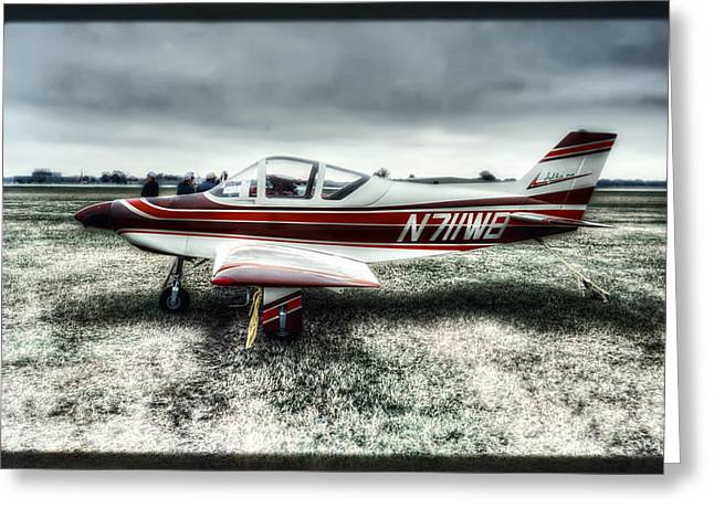 Single-engine Photographs Greeting Cards - N7llWB Barton Sylkie One Plane 3 Greeting Card by The  Vault - Jennifer Rondinelli Reilly
