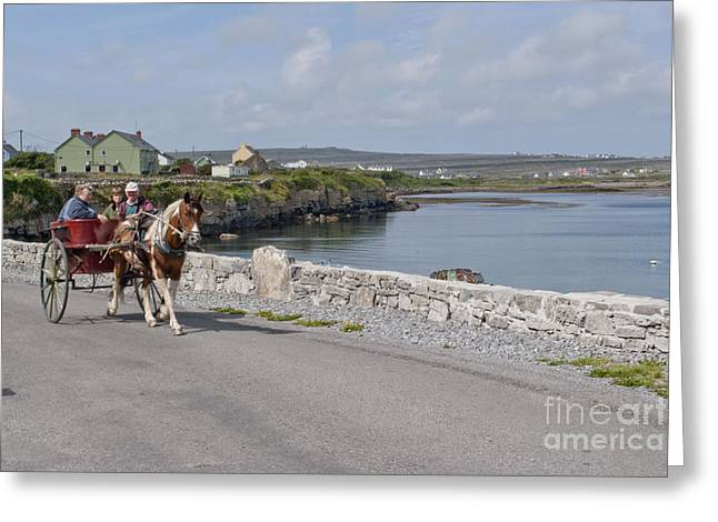 Na Hiostain Inis Mor Greeting Card by Danielle Summa