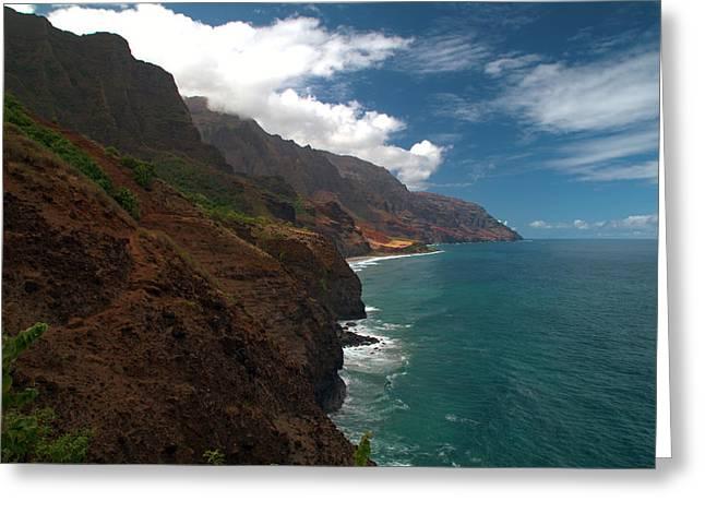 Na Greeting Cards - Na Pali Coast 5 Greeting Card by Brian Harig