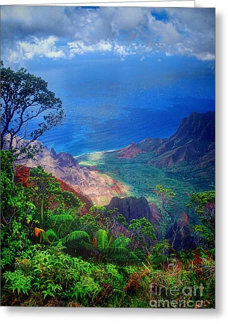 Na Greeting Cards - Na Pali Coast Kauai Greeting Card by David Smith