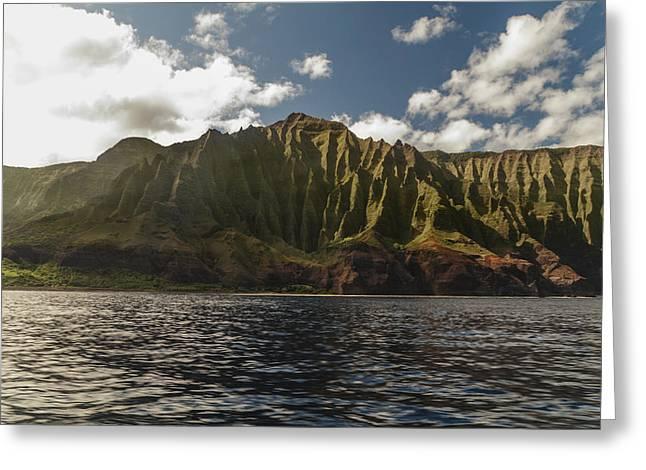 Best Ocean Photography Greeting Cards - Na Pali Coast Kauai Hawaii Greeting Card by Brian Harig
