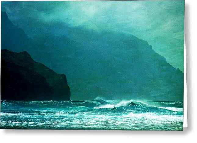 Recently Sold -  - Ocean Vista Greeting Cards - Na Pali Coast Greeting Card by Roselynne Broussard