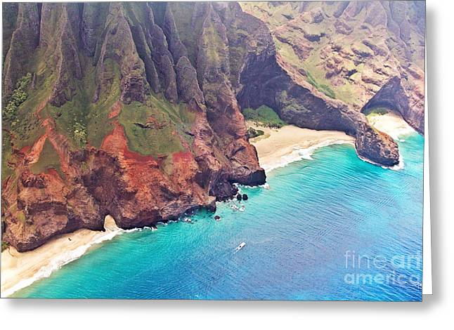 Na Pali Coast Greeting Card by Scott Pellegrin