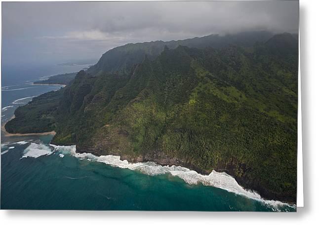 Na Pali Shore Kauai Greeting Card by Steven Lapkin