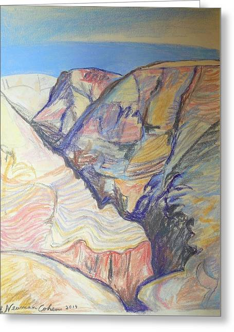 Landscape Framed Prints Greeting Cards - Nachal Darga Canyon Greeting Card by Esther Newman-Cohen