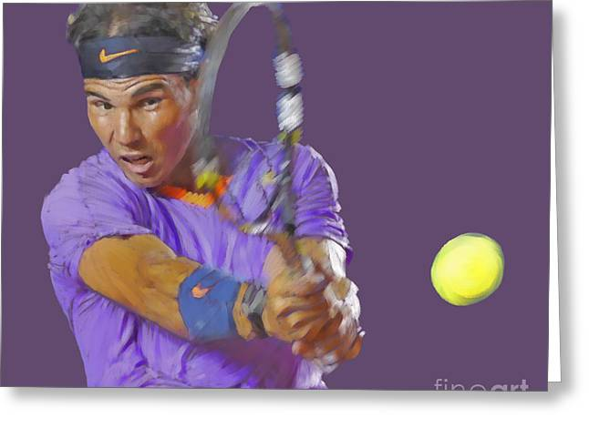 French Open Digital Greeting Cards - Nadal Greeting Card by Stephen Shub