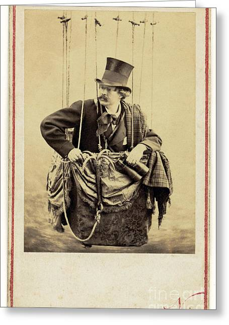 Self-portrait Photographs Greeting Cards - Nadar In The Gondola Of A Balloon 1863 Greeting Card by Getty Research Institute