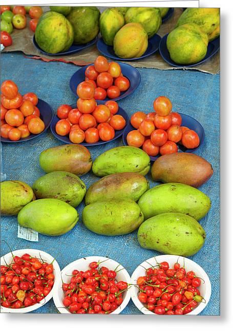 Nadi Produce Market, Nadi, Viti Levu Greeting Card by David Wall