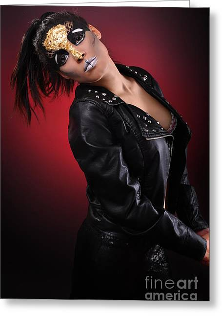 Gold Jacket Greeting Cards - Nadia2 Greeting Card by Yhun Suarez