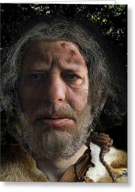 Incarnation Digital Art Greeting Cards - Nafets Neandertal Greeting Card by Nafets Nuarb