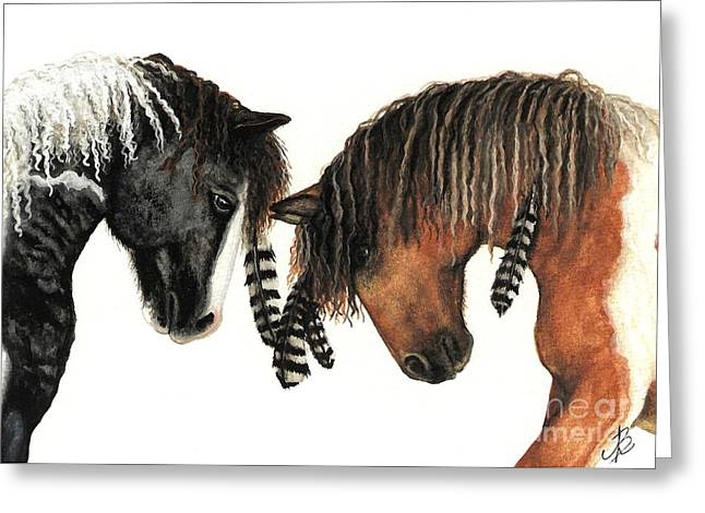 Tri Colored Greeting Cards - Mustang Series 37 Greeting Card by AmyLyn Bihrle