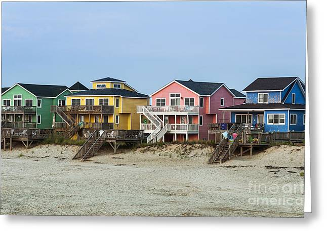 Rent House Greeting Cards - Nags Head Beach House Greeting Card by John Greim
