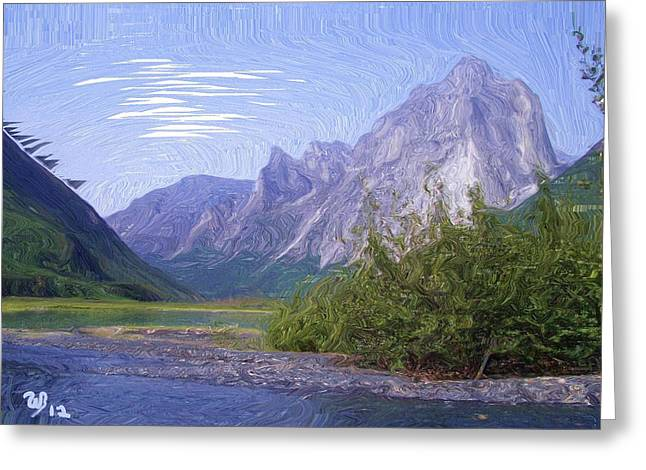 Wonderous Greeting Cards - Nahanni Valley Greeting Card by Wayne Bonney