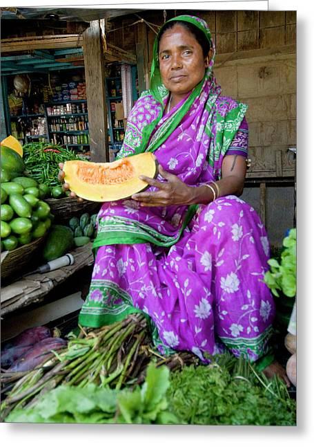Naharlagun Market, Itanagar, Arunachal Greeting Card by Ellen Clark