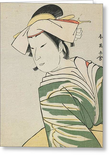 Acting Paintings Greeting Cards - Nakamura Noshio II as Tonase Greeting Card by Katsukawa Shunei